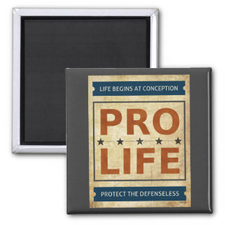 Pro Life Billboard Square Magnet