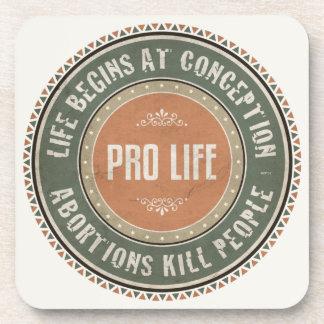 Pro Life Drink Coaster