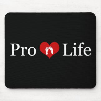 Pro-Life Heart and Baby Feet Mouse Pad