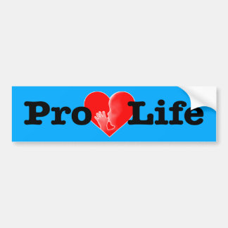 """PRO-LIFE HEART WITH FETUS SUCKING ITS THUMB"" BUMPER STICKER"