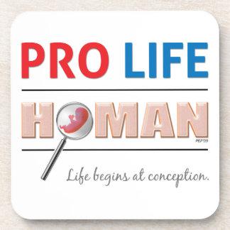 Pro Life Human Drink Coaster