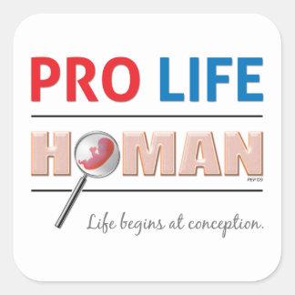 Pro Life Human Square Sticker