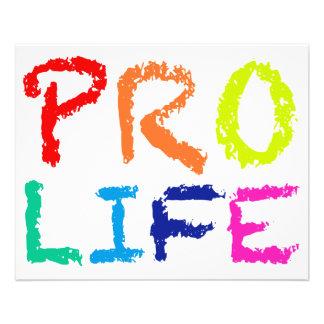 """PRO LIFE"" (IN RAINBOW CRAYONS) 11.5 CM X 14 CM FLYER"