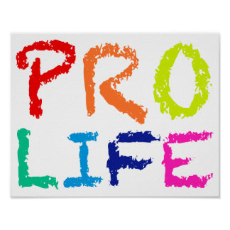 """PRO LIFE"" (IN RAINBOW CRAYONS) POSTER"