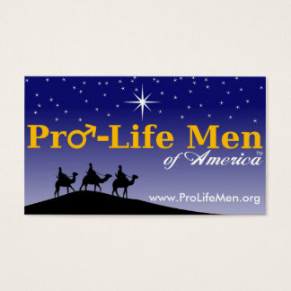 pro_life_men_highres, www.ProLifeMen.org Business Card
