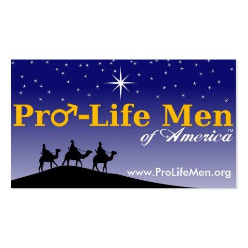 pro_life_men_highres, www.ProLifeMen.org Business Card