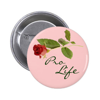Pro-Life on Pink Floral 6 Cm Round Badge