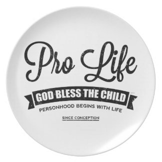 Pro Life Party Plates