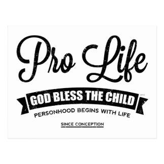Pro Life Postcard