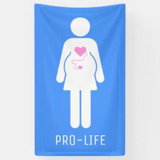 Pro Life Pregnant Woman Icon Banner