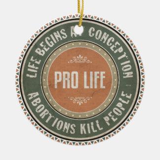 Pro Life Round Ceramic Decoration
