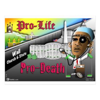 Pro-Life vs. Pro-Death Postcard
