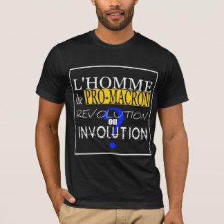 PRO-M-A-C-R-O-N Evolution ou involution Black MenT T-Shirt