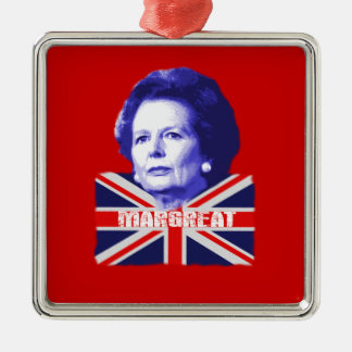 Pro Mrs Thatcher Silver-Colored Square Decoration