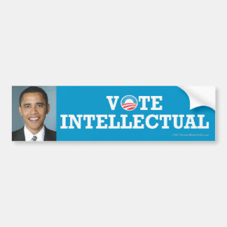 Pro-Obama sticker Intellectual Bumper Sticker