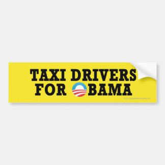 Pro-Obama Taxi Drivers Car Bumper Sticker