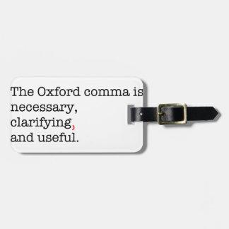 Pro-Oxford Comma Luggage Tag