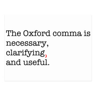 Pro-Oxford Comma Postcard