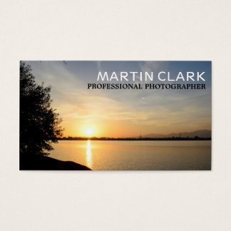 Pro photographer sunset business card