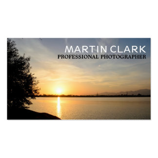 Pro photographer sunset pack of standard business cards
