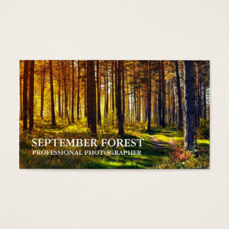 Pro Photography (Forest) Business Card