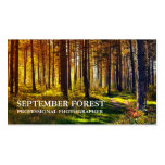 Pro Photography (Forest) Business Card Template