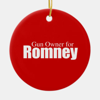 PRO-ROMNEY - GUN OWNER FOR ROMNEY -- .png Double-Sided Ceramic Round Christmas Ornament
