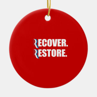 PRO-ROMNEY - ROMNEY WILL RECOVER RESTORE -- .png Ornaments
