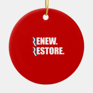 PRO-ROMNEY - ROMNEY WILL RENEW AND RESTORE -- .png Ornament