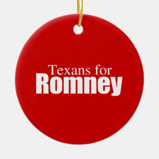 PRO-ROMNEY - TEXANS FOR ROMNEY -- .png Round Ceramic Decoration