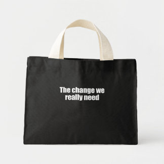 PRO-ROMNEY - THE CHANGE WE REALLY NEED -- .png Mini Tote Bag