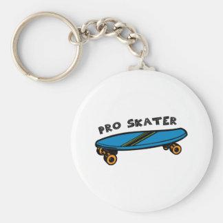 Pro Skater Basic Round Button Key Ring