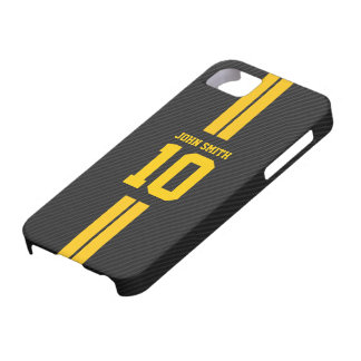 Pro Soccer Jersey Dark Carbon Fiber iPhone 5 Case