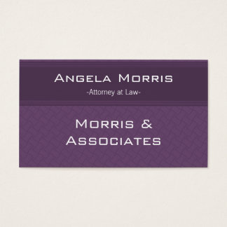 Pro Textures Business Card, Eggplant Business Card