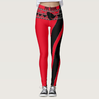 Pro Tribal Red Compression Fit Leggings