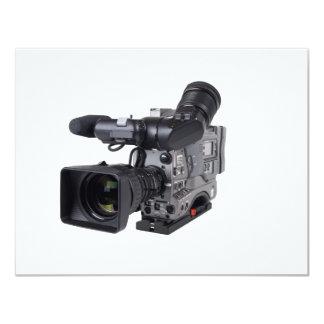 pro video camera 11 cm x 14 cm invitation card