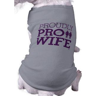PRO WIFE PUP SLEEVELESS DOG SHIRT