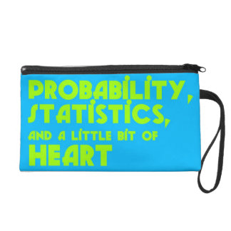 Probability, Statistics, & a Little Bit of Heart Wristlet Clutches
