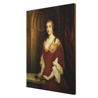Probable portrait of Nell Gwynne (1650-87), mistre Canvas Print