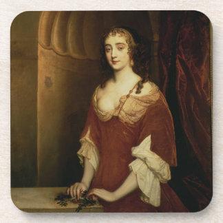 Probable portrait of Nell Gwynne (1650-87), mistre Drink Coasters