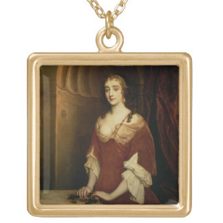 Probable portrait of Nell Gwynne (1650-87), mistre Gold Plated Necklace