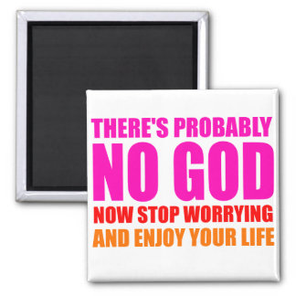 Probably No God Square Magnet