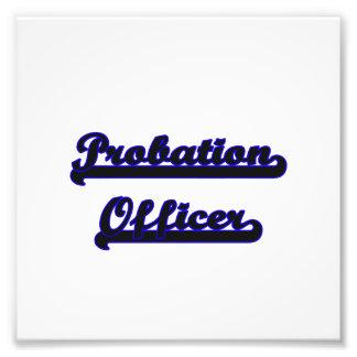Probation Officer Classic Job Design Photo Print