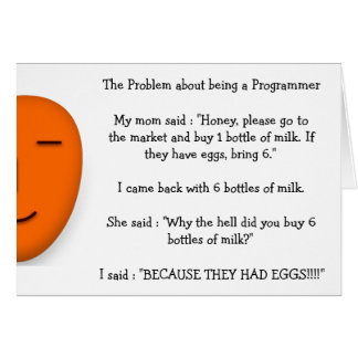 Problem about being a Programmer Funny Mom Joke Card