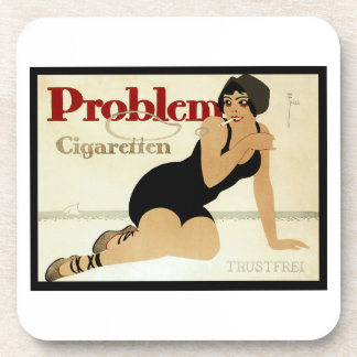 Problem Cigarette Ad Beverage Coaster