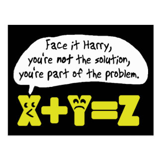 Problem Funny Math Post Cards