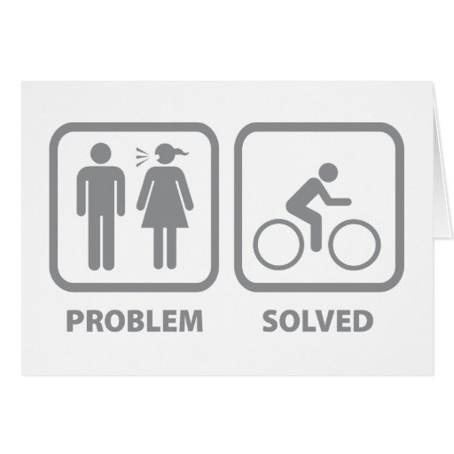 Problem Solved Cycling Greeting Card