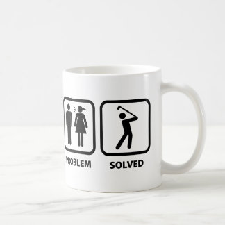 Problem Solved Golfing Coffee Mug