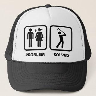 Problem Solved Golfing Trucker Hat