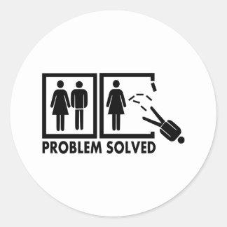 Problem solved - Man Sticker